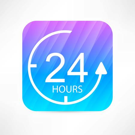 24 hours: 24 hours icon