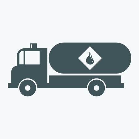 Truck with fuel Icon Illustration