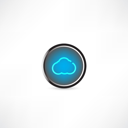 forecaster: cloud icon Illustration