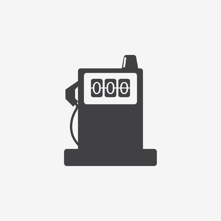 Glossy Fuel Station & Battery Sign Icons Vector