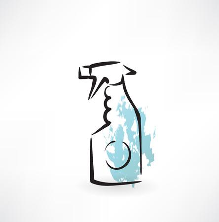 spray cleaning grunge icon Illustration
