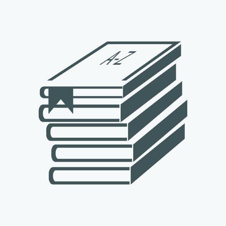 Stapel van boeken (boeken gestapeld) Stock Illustratie