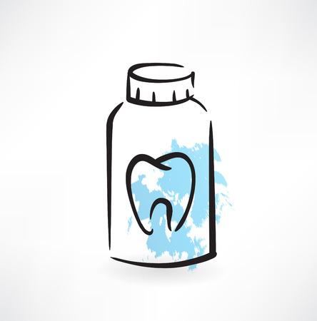 toothpaste grunge icon