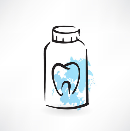 toothpaste grunge icon