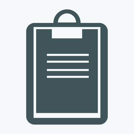 notarized: tablet paper icon