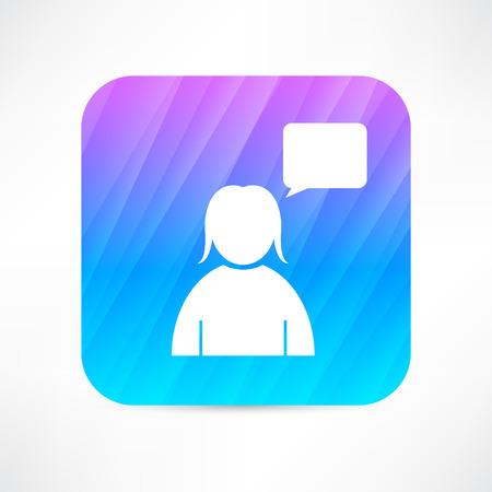 girl speaking icon Vector