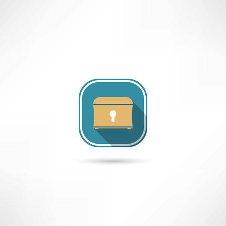 chest icon Stock Vector - 32206923