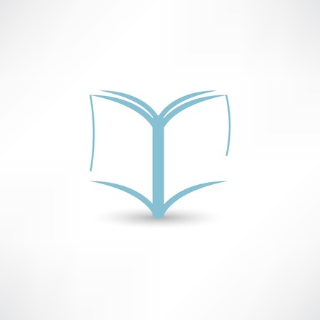 open notebook: book icon Illustration