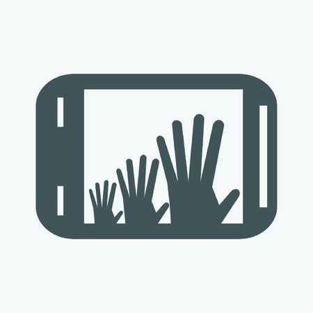 smartphone: Smartphone with hands icon