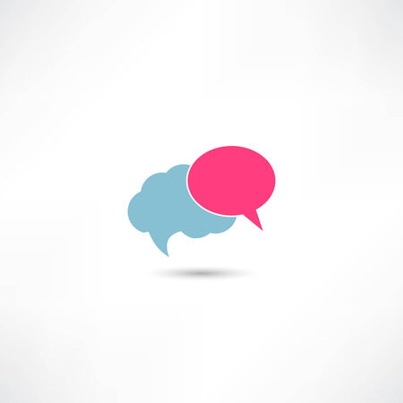 Clouds dialogue icon Vector