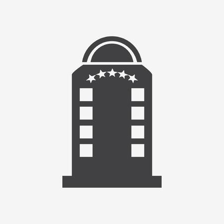 luxury hotel room: Hotel building - vector illustration Illustration