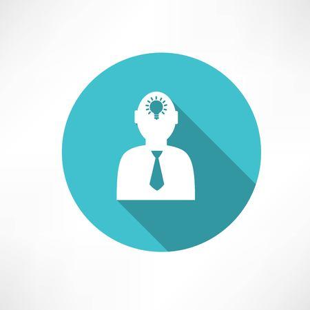 idea in human head Illustration
