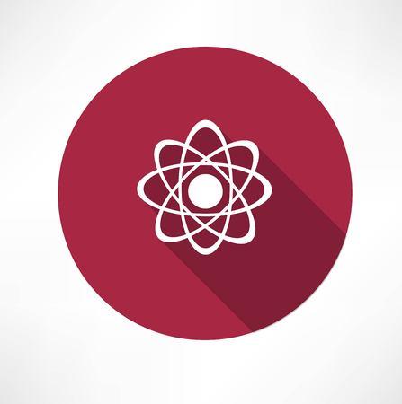 gamma radiation: molecule icon