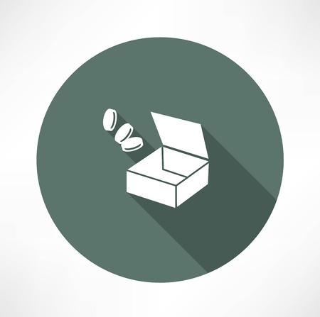 open box with trifle Vector