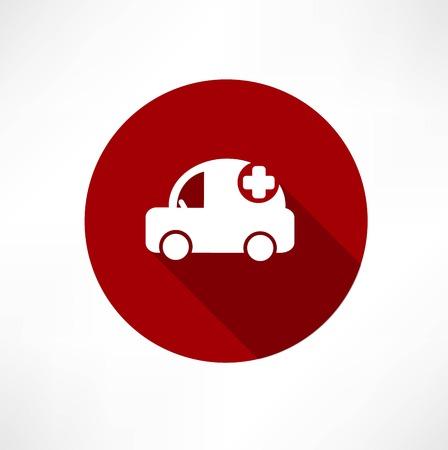 lab technician: medical car icon Illustration