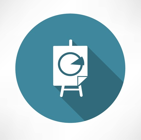 artboard: percentage diagram on the poster stands icon