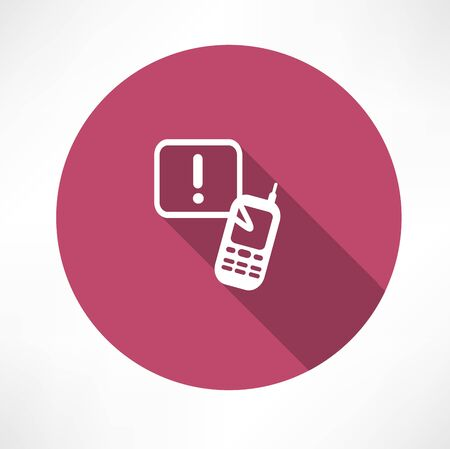 interjection: attention sign phone icon