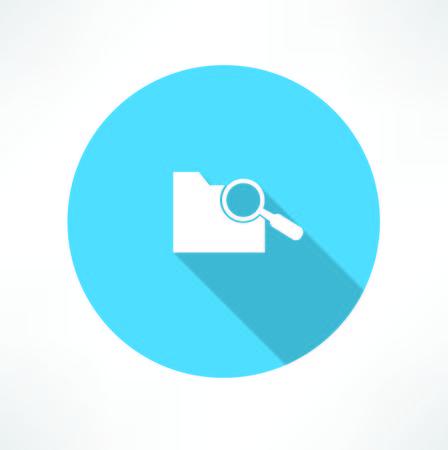 glass reflection: search folder icon Illustration