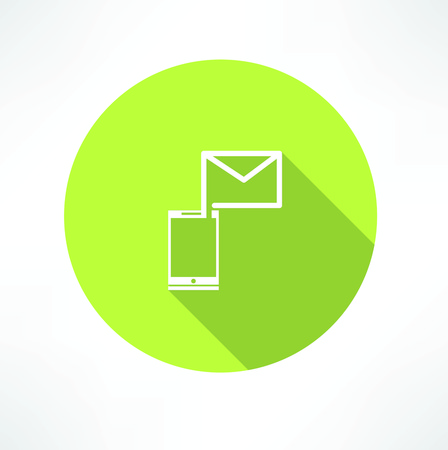 telephone box: Smartphone e-mail icon