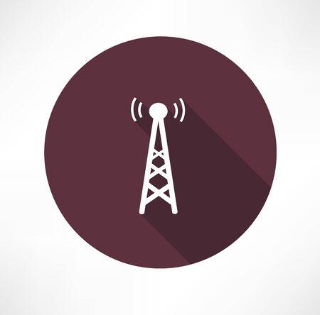La radio icône tour Banque d'images - 32237649