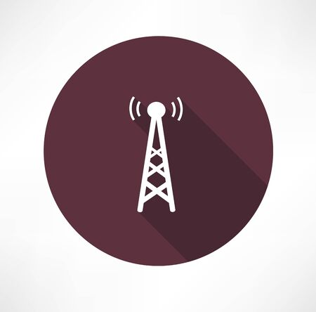 telephone mast: radio tower icon