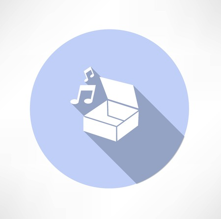 box with music Vector