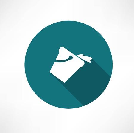 a bucket of water icon Ilustração