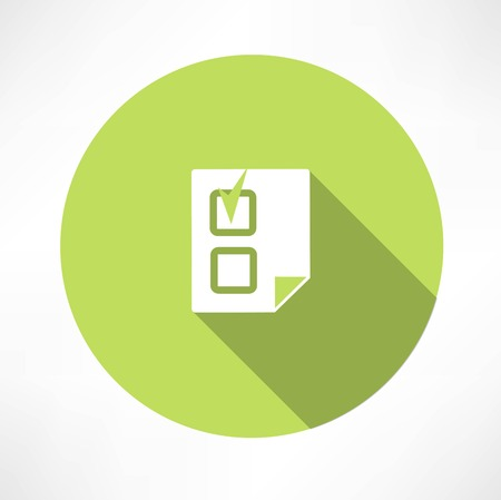 document with a check mark icon icon Illustration