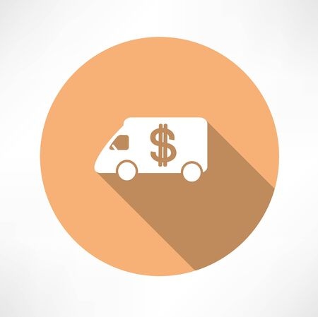 car with money icon Illustration