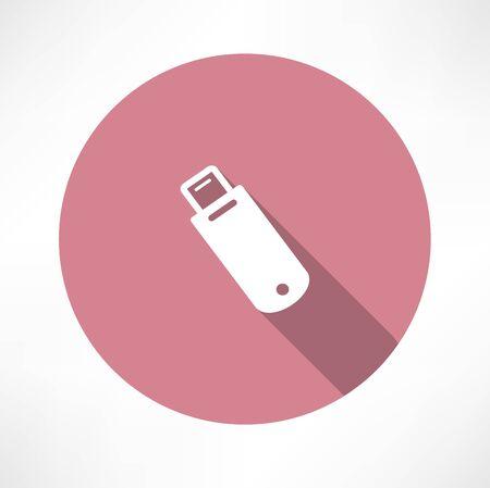 Usb flash drivo icon Ilustração