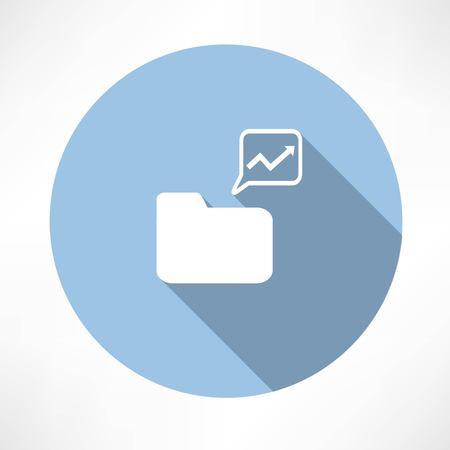 folder with diagram icon  Ilustração