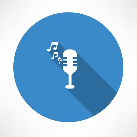 lyric: Microphone and melody icon