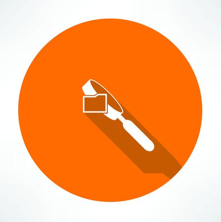 scanning: search folders icon Illustration