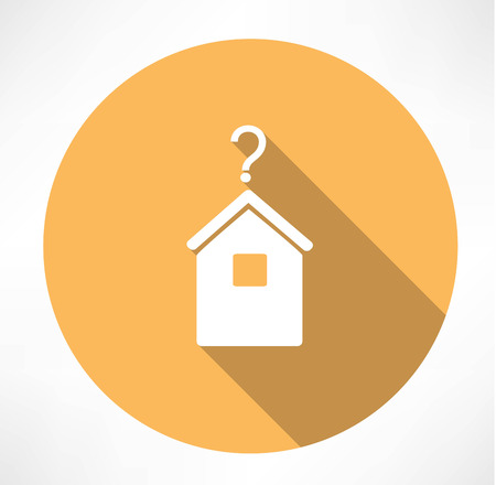 large house: House with question mark icon