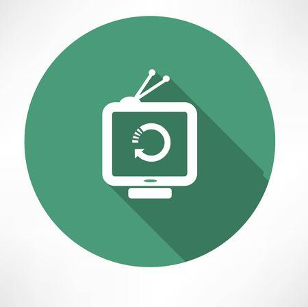 set de television: refrescar icono en el set de televisi�n retro Vectores