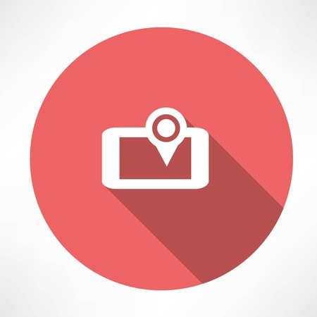 smartphone icon: Smartphone GPS icon