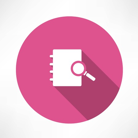 Sear The in notebook icon Vector
