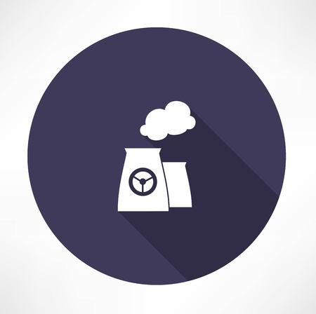 nuclear power plant icon Illustration