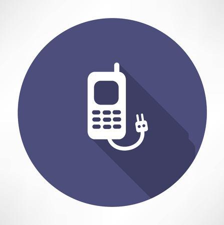 charging the phone concept Ilustração