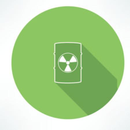 barrel radioactive waste: barrel with hazardous material icon
