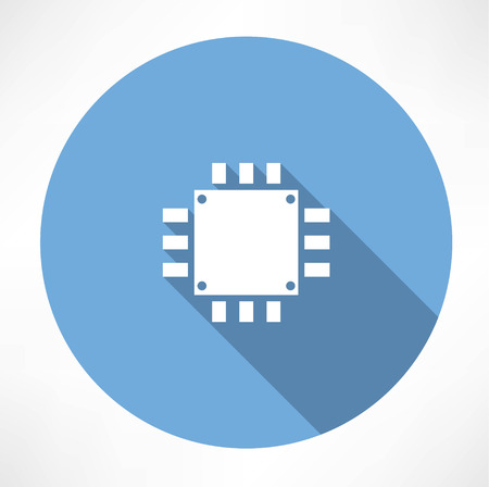 electronic components: Processor Icon