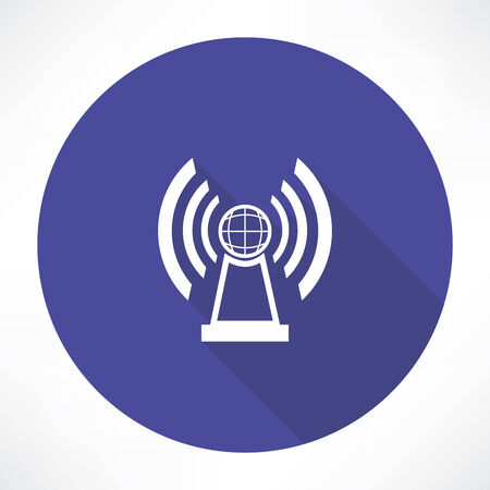radio station icon Illustration