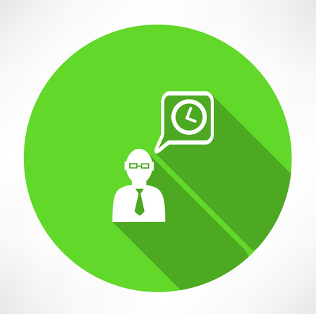 elapsed: businessman talk about time icon