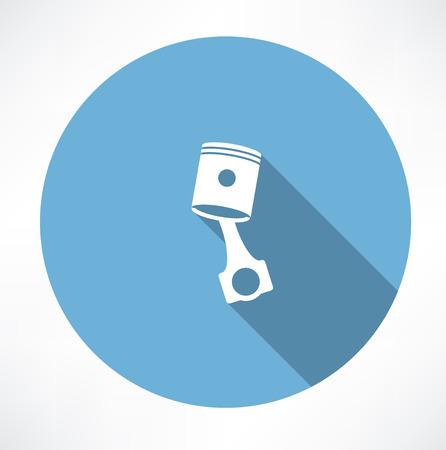 explosion engine: Car piston icon Illustration