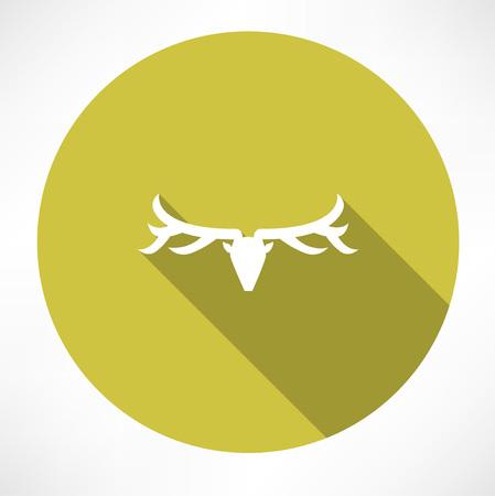 Deer icon Stock Illustratie