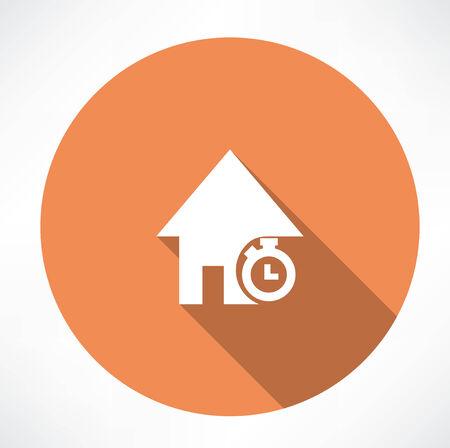 home loans: Durata di mutui per la casa Vettoriali