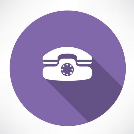 landline phone icon Vector