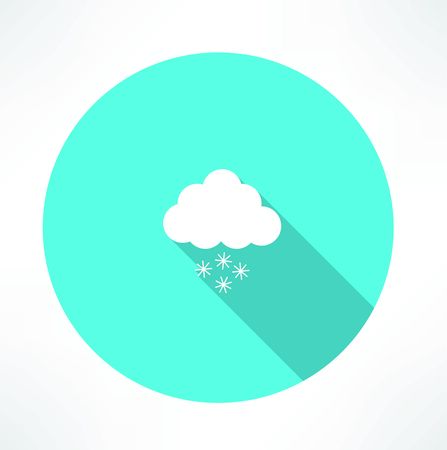 snowing icon Vector