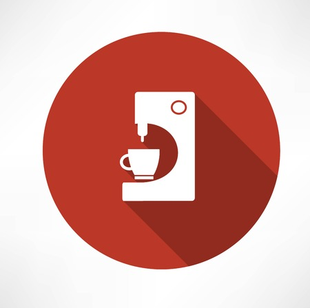 with coffee maker: coffee machine with cup icon Illustration