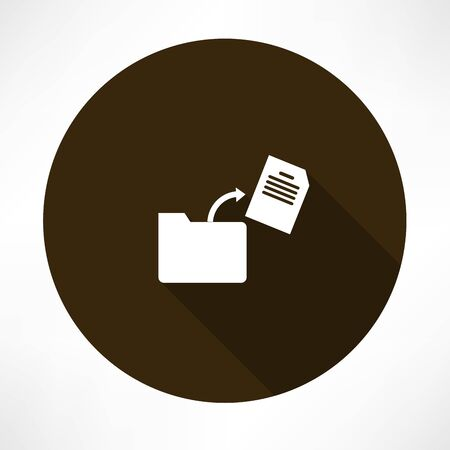 document in the folder icon Vector